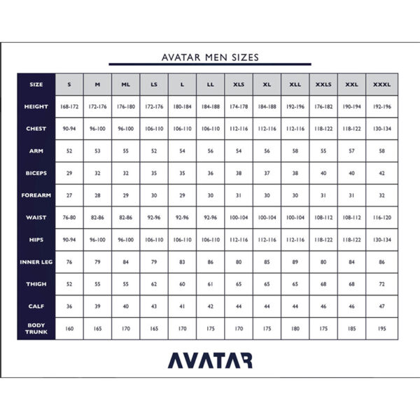 Tableau de tailles Sous-combinaison-AVATAR-NO.-901